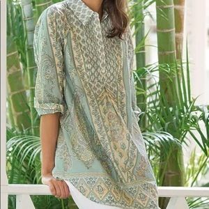Soft Surroundings Tabitha Tunic Paisley Floral 1X